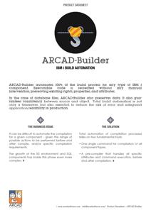 ARCAD Builder Datasheet
