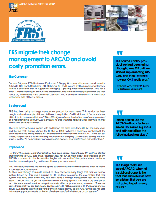 FRS Customer Success Story Cover