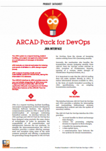 Arcad Pack for DevOps Jira Interface Datasheet