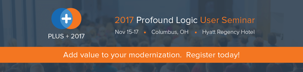 Profound Logic User Seminar 2017