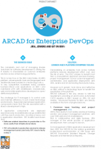 ARCAD for Enterprise Devops Datasheet