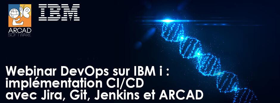 Banner Webinar devops sur IBM i