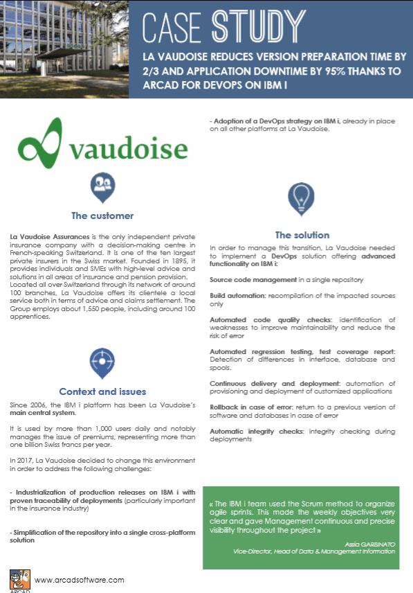 Customer Case Study LaVaudoise