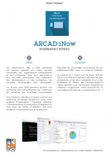 Datasheet - ARCAD iNow