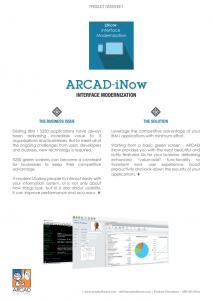 ARCAD iNow datasheet