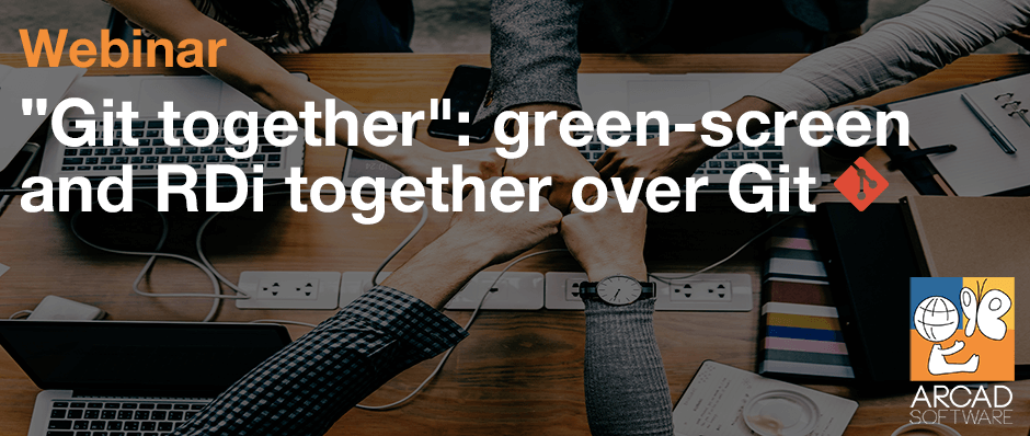 """""""Git Together"""": green screen and RDi together over Git"""