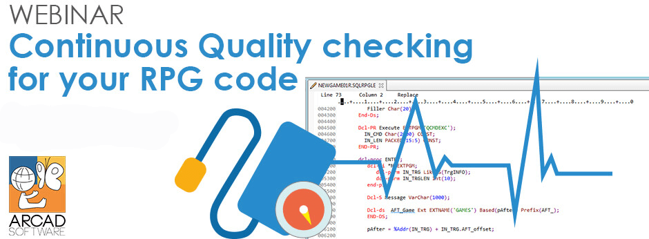 Webinar : Continuous quality checking for your RPG code