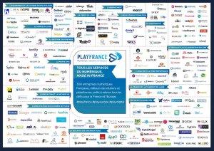 Mapping PlayFrance des acteurs du Numérique Français